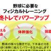 野球に必要なフィジカルトレーニング